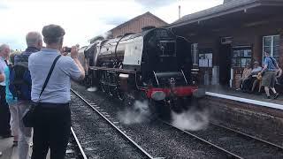 6233 Duchess of Sutherland on The West Somerset Explorer 27.7.2019