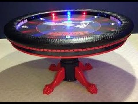 Round Custom Poker Tables with Focused Lights and Controller YouTube