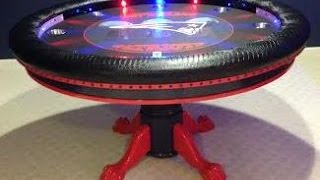 Round Custom Poker Tables with Focused Lights and Controller