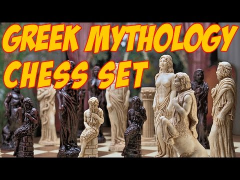 Design Toscano Gods of Greek Mythology Chess Set/Greek Gods