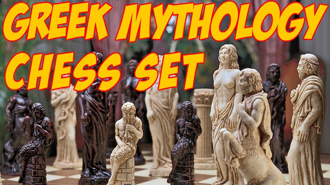 design toscano gods of greek mythology chess set greek gods chess