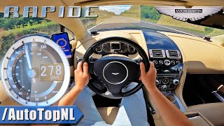 ASTON MARTIN RAPIDE V12 on AUTOBAHN [NO SPEED LIMIT!] by AutoTopNL