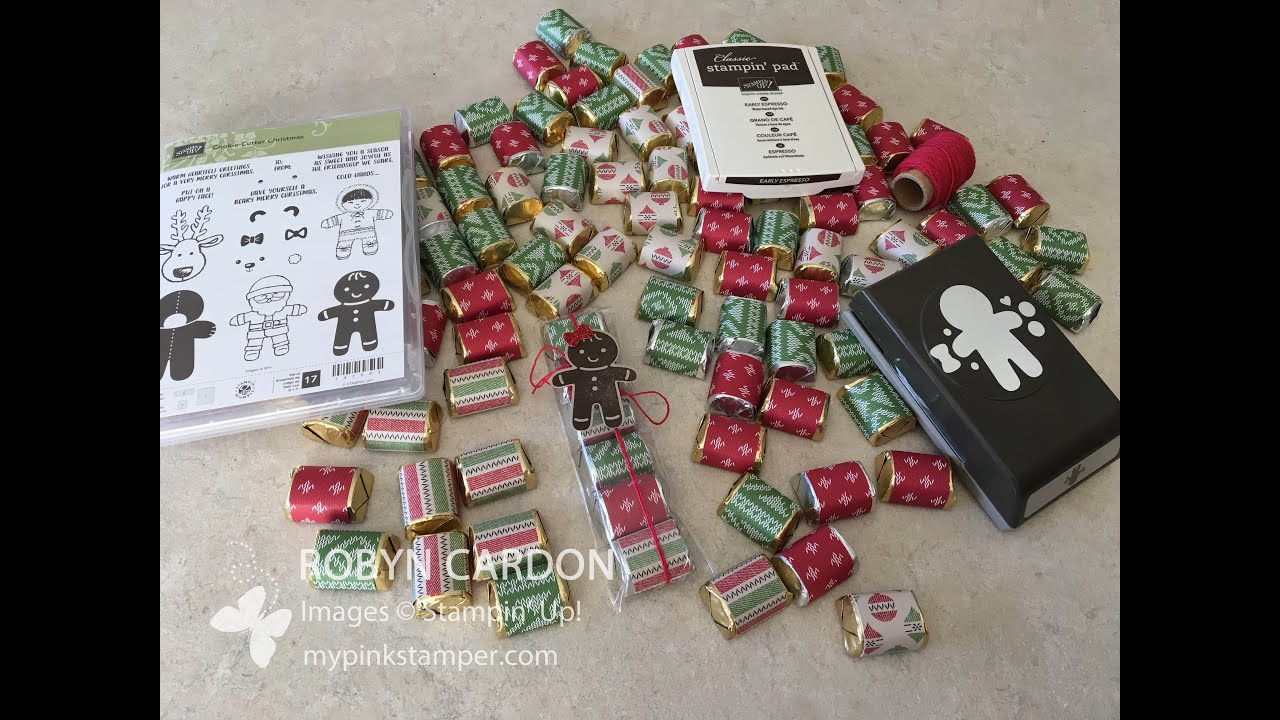 How to make Stampin' Up! Cookie Cutter Christmas Nugget Treat Bags ...