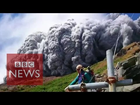 Video: Japan volcano shoots rock & ash on Mount Ontake - BBC News