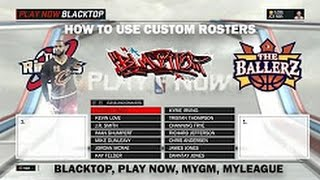 HOW TO PUT CREATED PLAYERS ON BLACKTOP THE REAL WAY•NBA 2K17•PS4/XB1