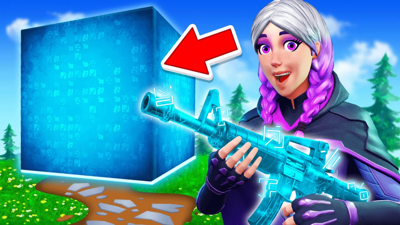 Download The *BLUE CUBE* Challenge in Fortnite!