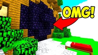 CRAZY OBSIDIAN TRAP MINECRAFT BED WARS TROLLING!