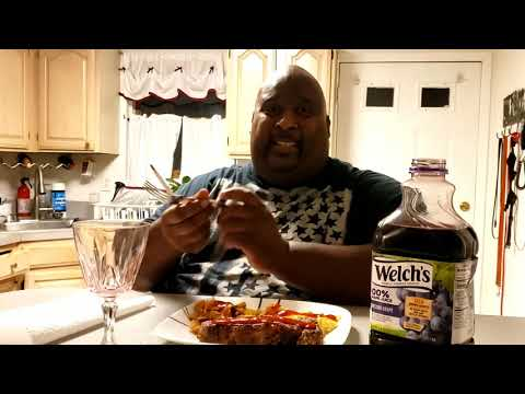 Badlands Does The Notorious BIG Breakfast (T Bone Steak, Cheese Eggs & 64oz. Welch's Grape Juice