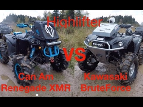 High lifter  Kawasaki Brute force VS Can Am Renegade XMR