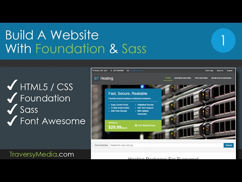 Build A Website With Foundation and Sass - Part 1