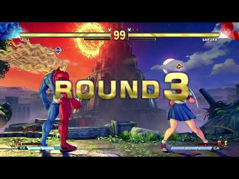 STREET FIGHTER V Gill vs Sakura |