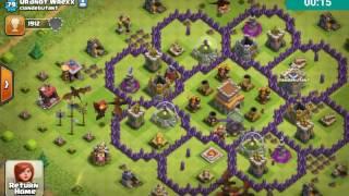 Clash of Clans _ Base designs#1 - Flower base