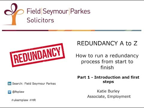 Redundancy A to Z (Part 1) - How to run a redundancy process from start to finish