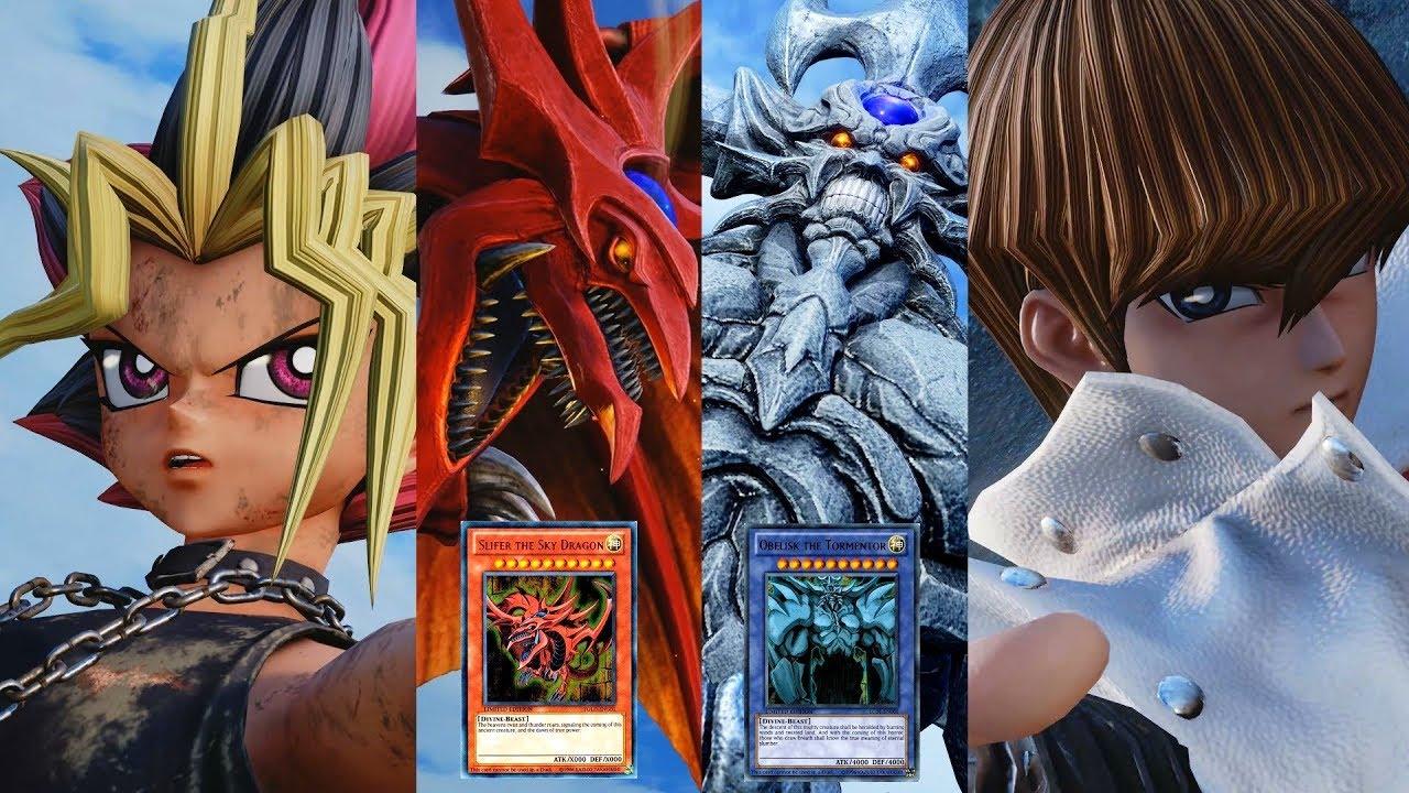 Jump Force - Seto Kaiba vs Yami Yugi! Obelisk the Tormentor vs Slifer the Sky Dragon!