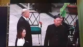 Day 2 of Trump-Kim summit in Hanoi: Trump and Kim stroll across the garden