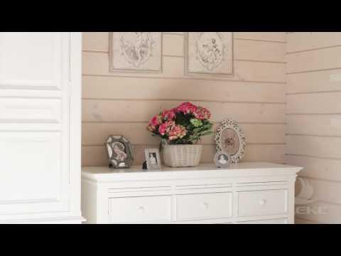 Интерьер деревянного дома в стиле прованс от ПАЛЕКС