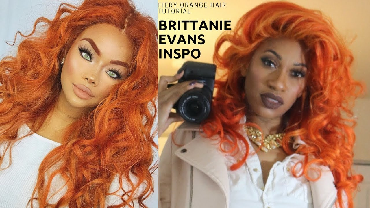 Brittanie Evans Fiery Orange Hair Color Detailed Tutorial On Lace