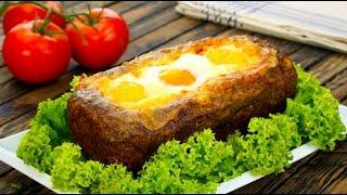 Falscher Hase mal anders: gefüllt mit Schinken, Käse und Ei.