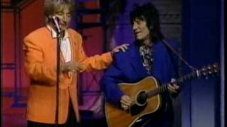 rod stewart sings maggie may live on letterman 1993