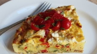 Potato & Pepper Frittata Recipe - Summer Vegetable Italian Omelet