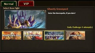 Rise of Mythos -How to Beat VIP Boss Ghastly Graveyard (Non-VIP Guide)