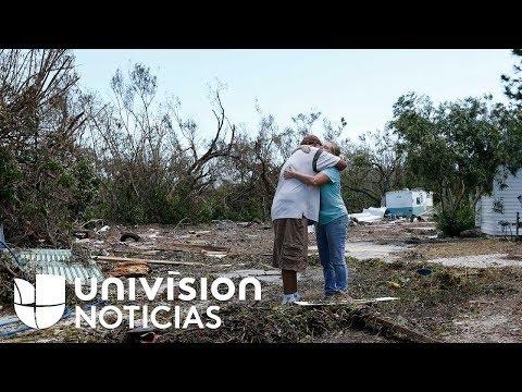 En destrucción total quedaron varias casas móviles tras paso del huracán Irma en Tavernier, Florida