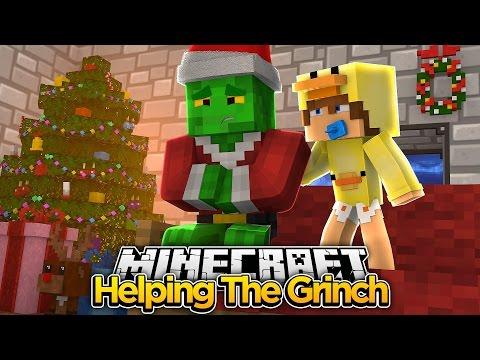 Minecraft Movie - THE GRINCH STOLE CHRISTMAS (Part 2) - Baby Duck Adventures