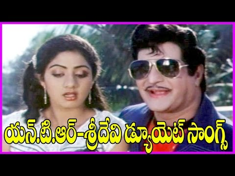 NTR - Sridevi Superhit Duet Songs - Justice Chowdary Video Songs - NTR Hits