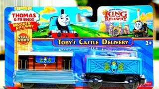 Thomas The Tank Engine Toby's Castle Delivery - King Of The Railway - Wooden Toy Train Review