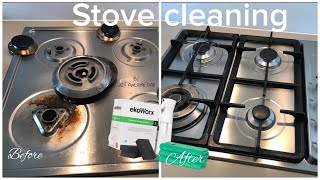 How to clean your gas STOVE with toxic and fume free KOH / EkoWorx. Does it work or is it a SCAM ?
