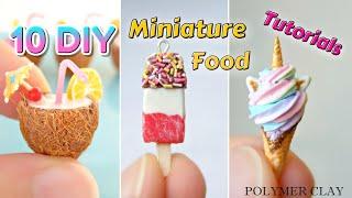 10 DIY Polymer Clay Miniature Food - Tutorials Compilation