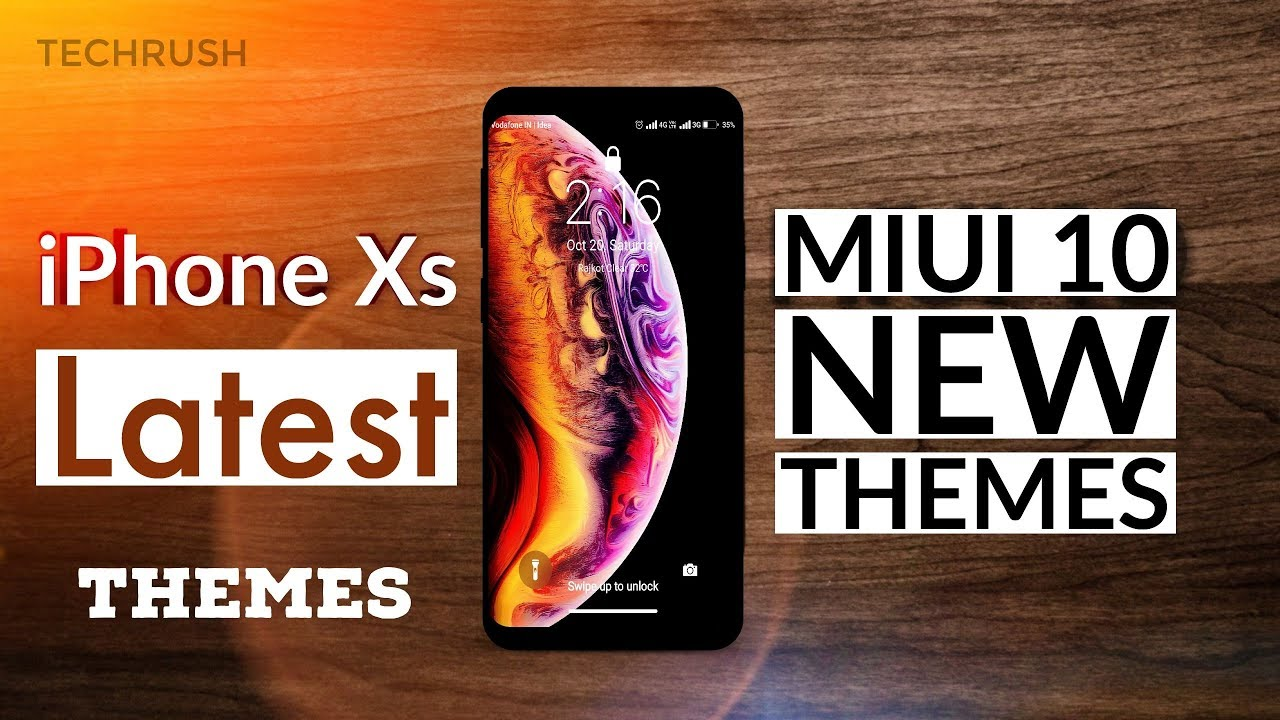iPhone Xs themes in all xiaomi device | Tech Rush