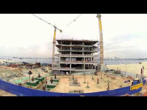 Baía de Luanda - Dyegi - Já em construção (filmagens aéreas)