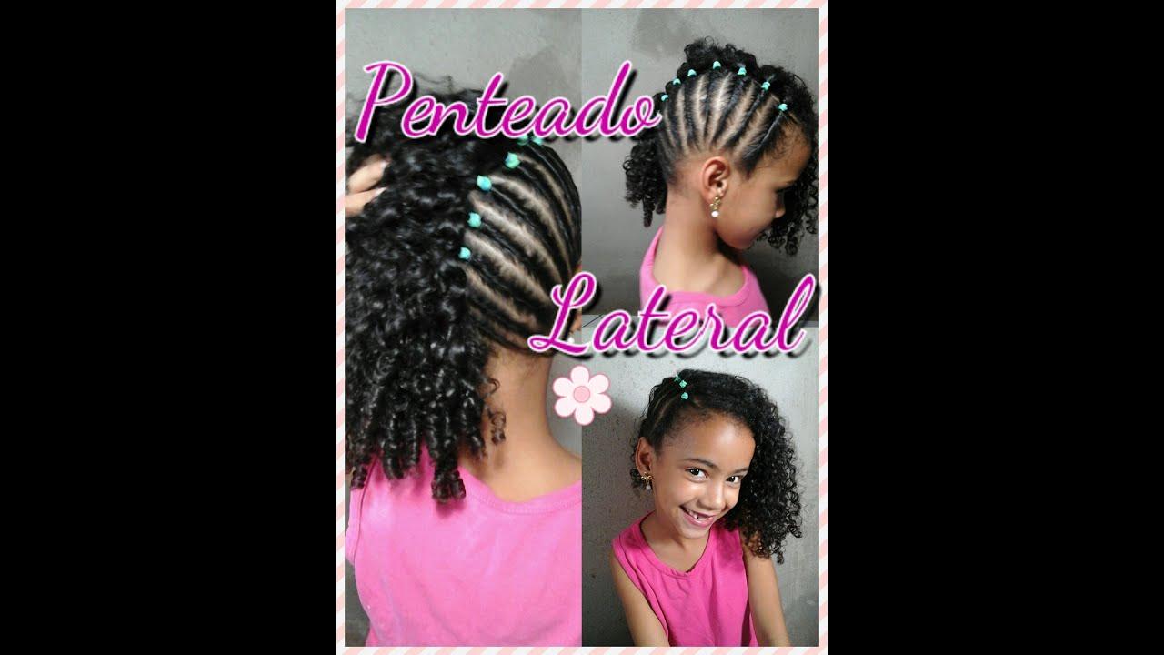 Penteados para cabelos cacheados infantil e simples