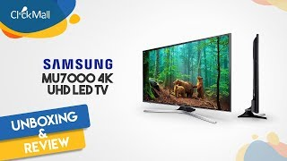 Samsung MU7000 50 inch 4K UHD LED TV Unboxing l Clickmall