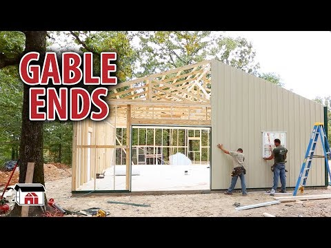 Installing Gable Ends on our DIY Shop Building Kits