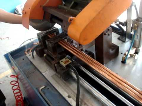Circular Sawing Machine Cutting Copper Pipe Youtube