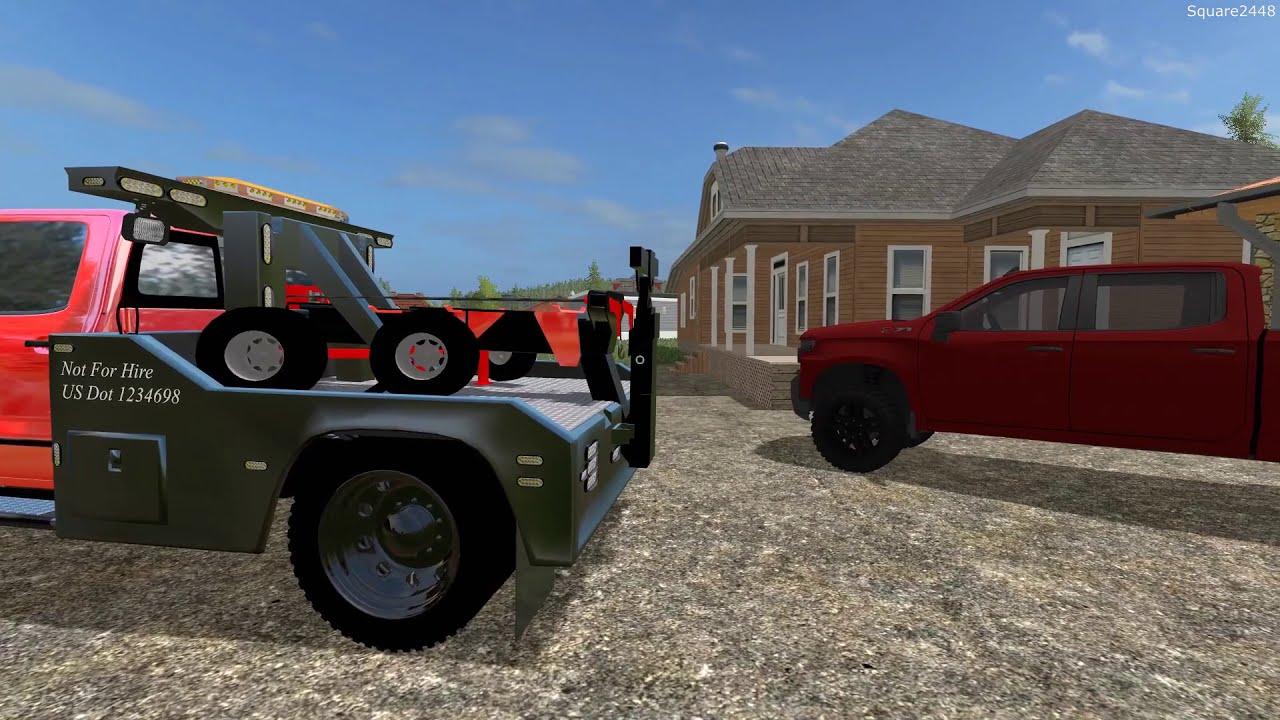 Farming Simulator 17 | Towing & Repoing | Rollback, Lake Boat & Skidsteer |  New Trucks  Square2448 16:00 HD
