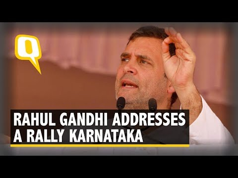 Congress President Rahul Gandhi Addresses a Rally in Haveri, Karnataka