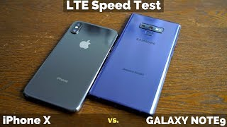 Galaxy Note9 vs iPhone X: LTE Speed Battle