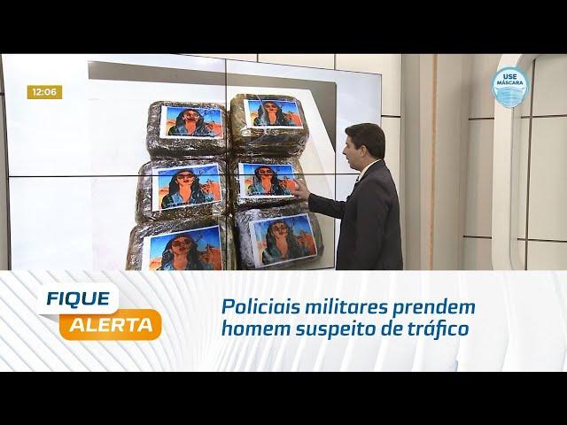 Policiais militares prendem homem suspeito de tráfico e tentativa de suborno em Guaxuma