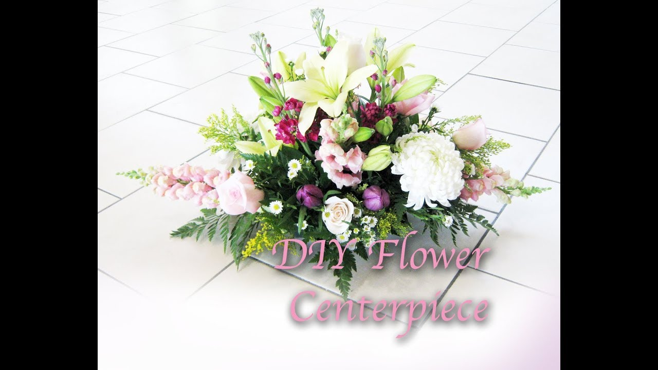 Fresh Flower Centerpiece Diy For Wedding Or Party Decoration Youtube
