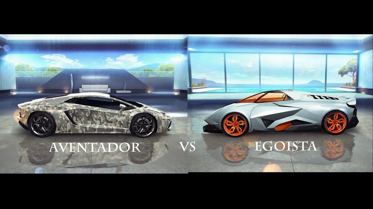 lamborghini egoista vs lamborghini aventador (asphalt 8 pc gameplay