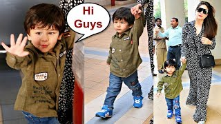 Taimur Ali Khan Walking In Swag With Mommy Kareena Kapoor