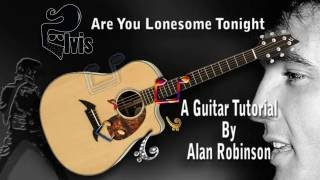 Are You Lonesome Tonight - Elvis - Acoustic Guitar Lesson (easy-ish)