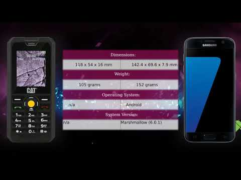 CAT B30 vs Samsung Galaxy S7 - Phone comparison