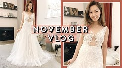 Trying On Wedding Dresses | November Vlog Pt. 1
