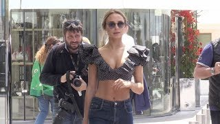 Kimberley Garner stuns in the streets of Cannes during the Film Festival 2018