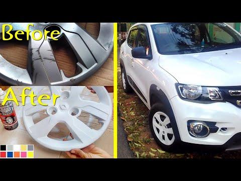 Make Old Wheel Covers Looks New DIY - Renault Kwid - Peel Coat / Plasti Dip - RicTheCarLover