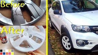 Make Car Wheel Covers Look COOL DIY - Renault Kwid - Peel Coat / Plasti Dip